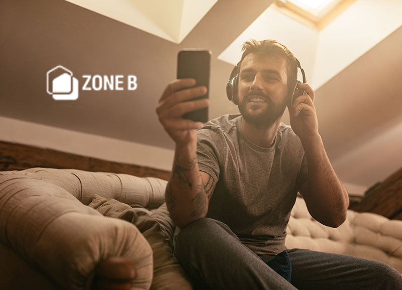 Zone B Output for Wireless Headphones